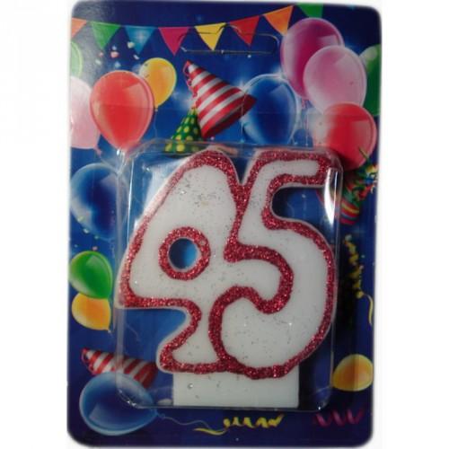 """Свеча для торта """"ЮБИЛЕЙНАЯ"""" цифра """"45"""""""
