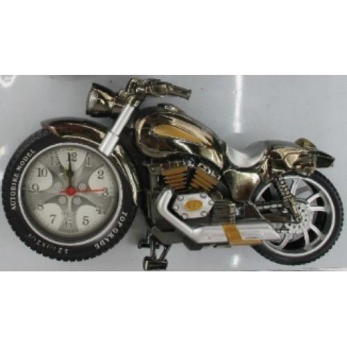 """Часы -будильник """"Мотоцикл металлик"""" 23*12см"""