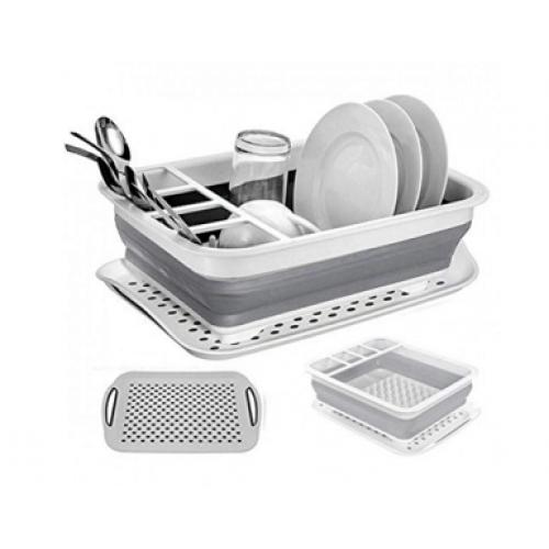 Сушка для посуды складная, силиконовая