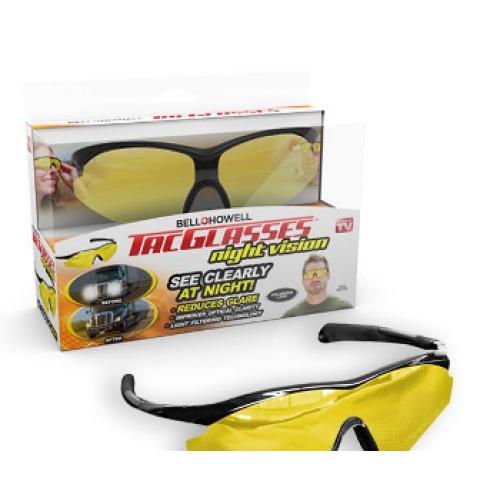 Антибликовые очки для ночного вождения Tac glasses night vision