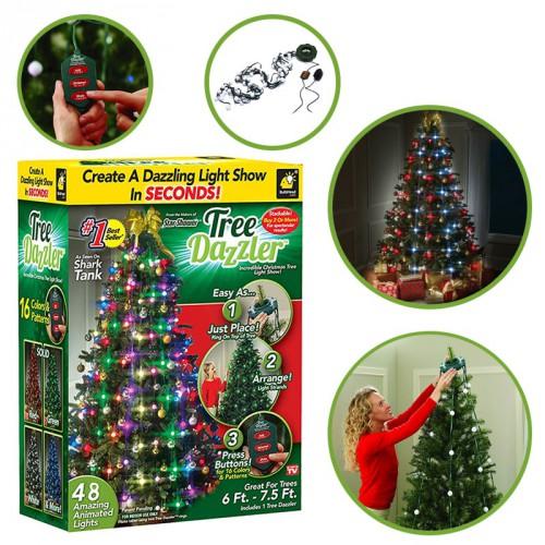 Гирлянда конусная на елку 48 Christmas lights