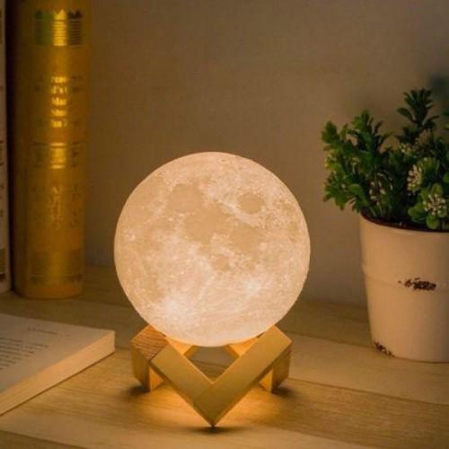 3D светильник-ночник Луна (без пульта)