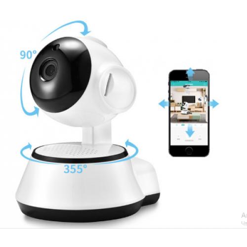 Поворотная IP камера видеонаблюдения Wireless Smart WiFi Camera 360 °. Видеоняня