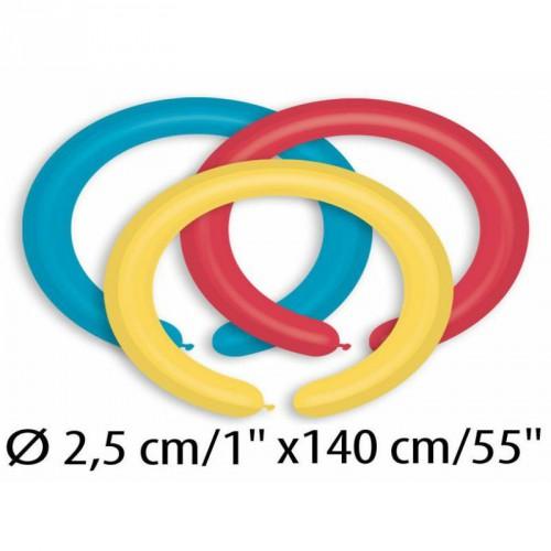 """D2/80 Шарики-конструктор 1' (2,5см) пастель АССОРТИ """"Gemar"""" Италия (100шт)"""