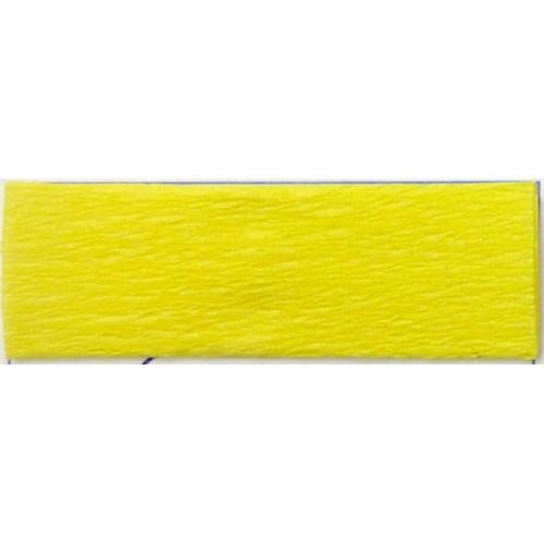 Бумага КРЕП, желтый лимон, 50*200см, 35%, Китай