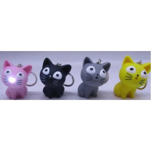 """Брелок-игрушка пластик. с LED подсветкой """"Мяукающий котик"""""""