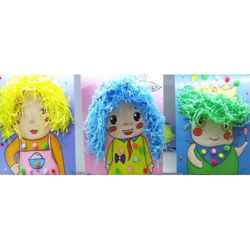 """Набор для творчества  """"Укрась портрет цветными волосами"""""""