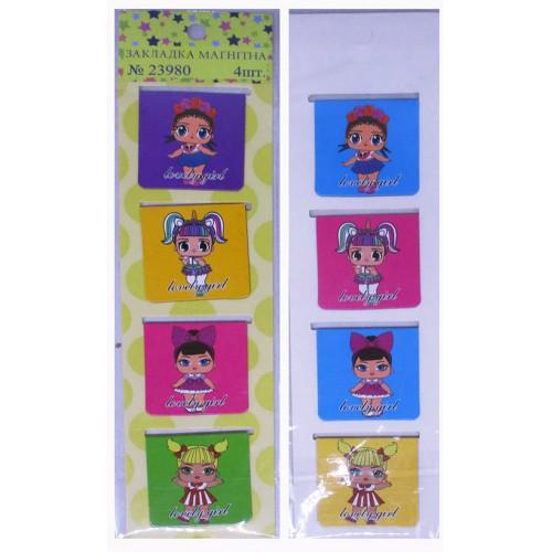 """Набор магнитных закладок """"Кукла"""" (4шт)"""