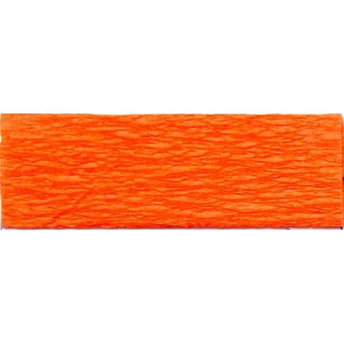 Бумага КРЕП, красный апельсин, 50*200см, 35%, Китай