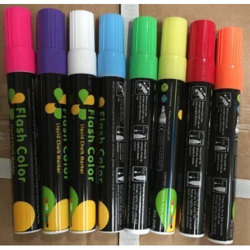 Набор маркеров сухостираемых флюоресцентных (светятся в темноте) 8цв