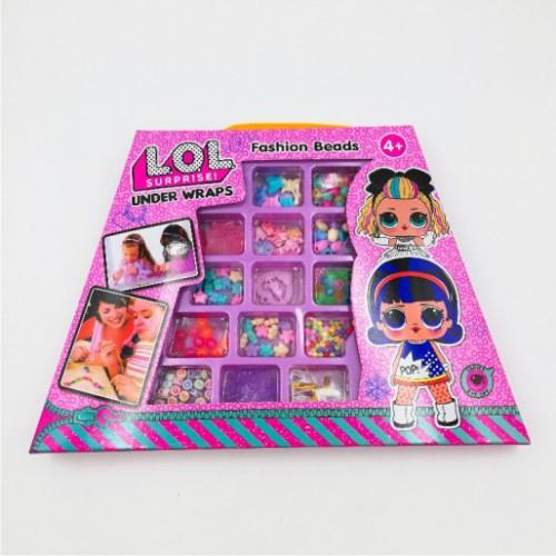 Набор детский для плетения из бисера 'Кукла'' 30*22см в карт.короб