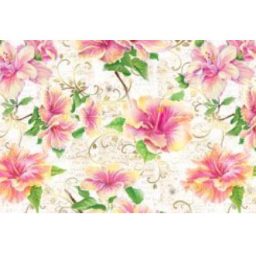 "Подарочная бумага В1 (707*1000мм) ""Цветы"""