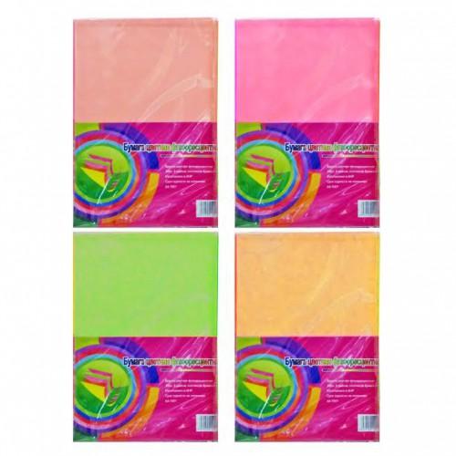 Цветная бумага НЕОН А4 10цв, 100л=5цв 80г/м2