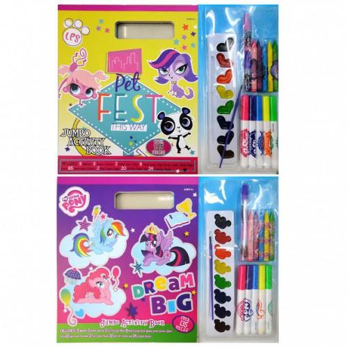 Набор для рисования ПОНИ - раскраски+фломастеры+мелки+краски+наклейки