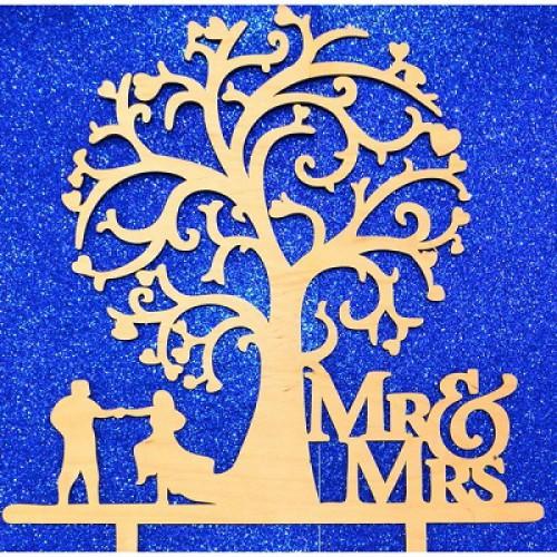 """Топпер  деревянный """"Mr.& Mrs.2"""""""