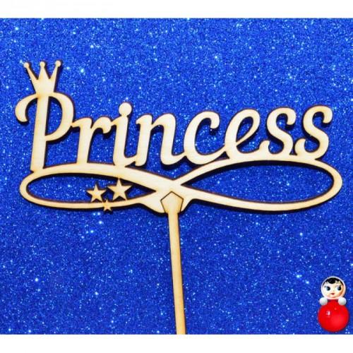 """Топпер  деревянный """"Princess"""""""