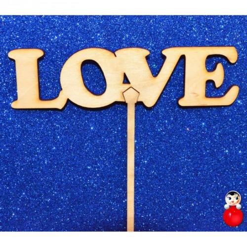"""Топпер  деревянный """"LOVE 3"""""""