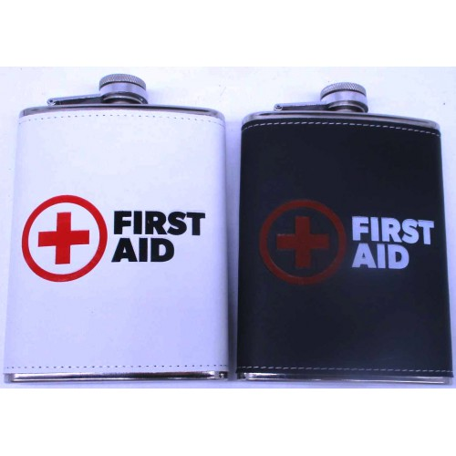"Фляга нерж.сталь ""First aid"" 240мл в коже"