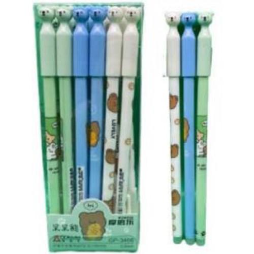 """Ручка гелевая """"пишет-стирает"""" """"Мишка"""" 0,5мм, синяя (1шт)"""