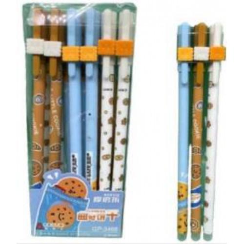 """Ручка гелевая """"пишет-стирает"""" """"Вкусняшки"""" 0,5мм, синяя (1шт)"""