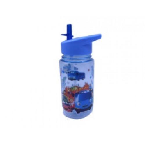 "Бутылка пластик. с трубочкой ""Машина"" 450мл"