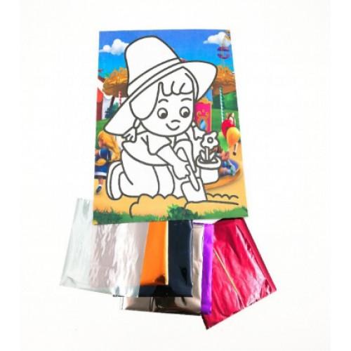 Набор для детского творчества ''голографическая мозаика'' 27,3*21см, микс