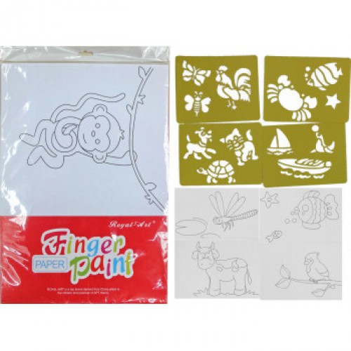 Раскраска - листы А- +ТРАФАРЕТЫ, для АКВАРЕЛИ и пальчиковых красок