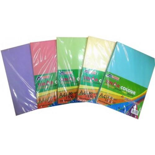 Цветная бумага А4 ЦВЕТНАЯ ПАСТЕЛЬ 100л одного цвета, 80г/м2