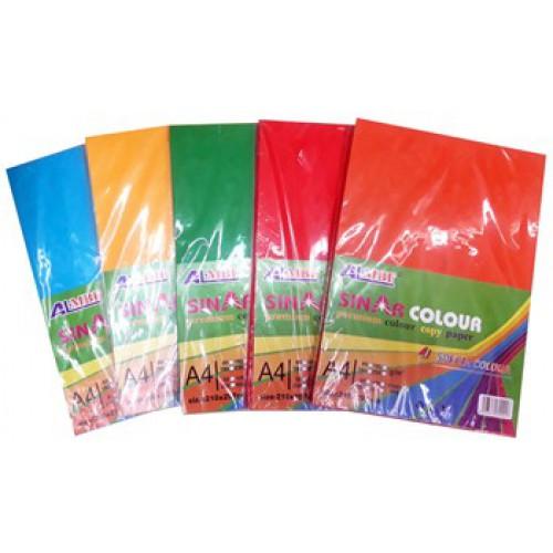 Бумага цветная А4, КЛАССИКА-ЯРКАЯ, 1цвет=100л, 80г/м2