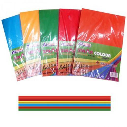 Бумага цветная А4, КЛАССИКА-ЯРКАЯ, 100л=5цв, 80г/м2