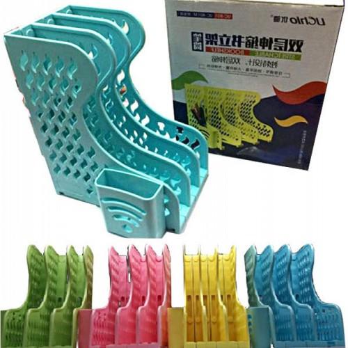 Настольный лоток-трансформер, вертикальный, цветной, 3 секции