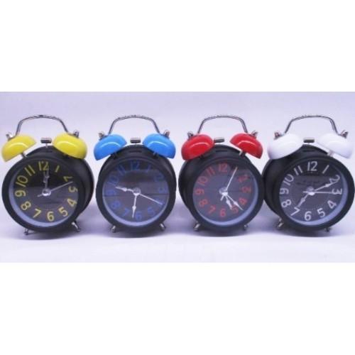 "Часы -будильник метал. ""Цветной циферблат"" Ø8,5см"