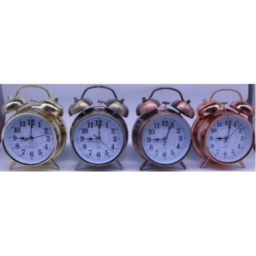 Часы-будильник металлические Ø10см