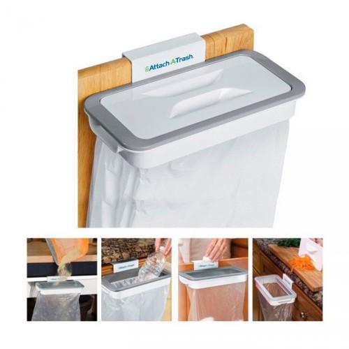 Держатель с крышкой для мусорных пакетов навесной ATTACH-A-TRASH, 24*11*3см, пластик