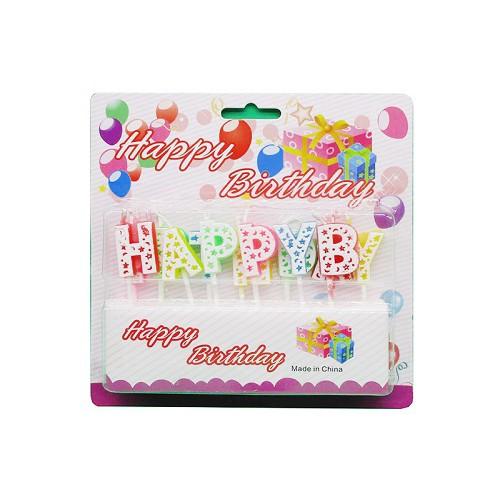 """Свечи-буквы на торт """"Happy Birtday"""" разноцветные 16,2*15,5см"""