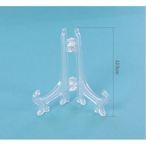 Декоративная подставка 12,5см прозрачная, под фоторамку, тарелку, картину (1шт)