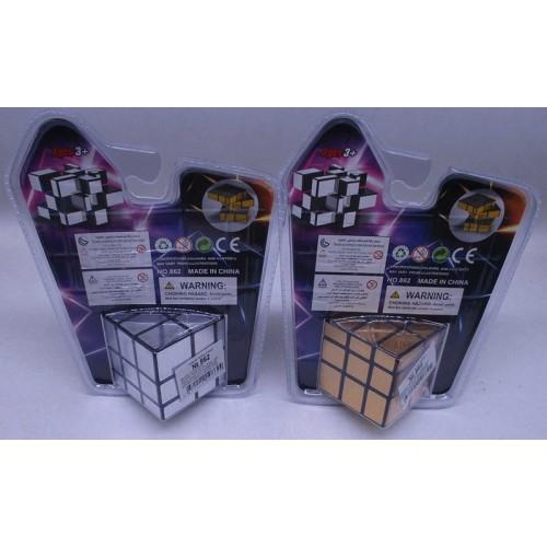 Кубик Рубика-золото/серебро 57мм