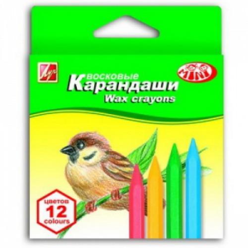 """Восковые карандаши 12цв """"ZOO"""" шестигранные """"Луч"""""""