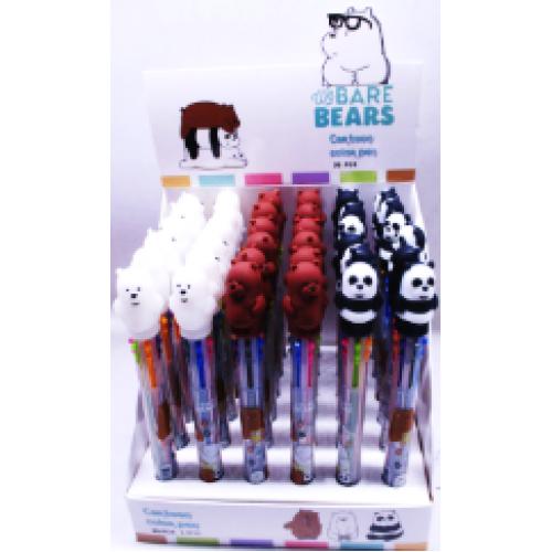"""Ручка шариковая 6цв """"Три медведя"""""""