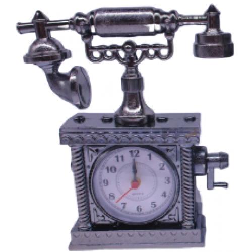 """Часы -будильник """"Телефон металлик"""" 19*17см"""