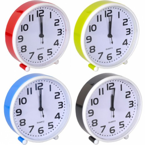 Настольные часы 14*14*4см с будильником