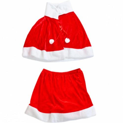 Костюм Снегурочки (юбка+накидка+шапка)