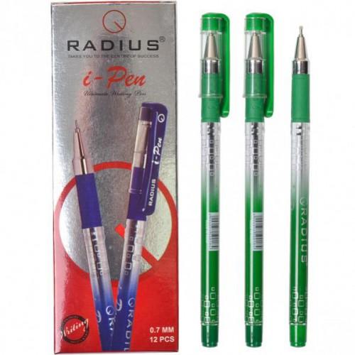 """Ручка шариковая """"i-Pen"""" на масляной основе 0.7мм, ЗЕЛЕНАЯ """"RADIUS"""""""