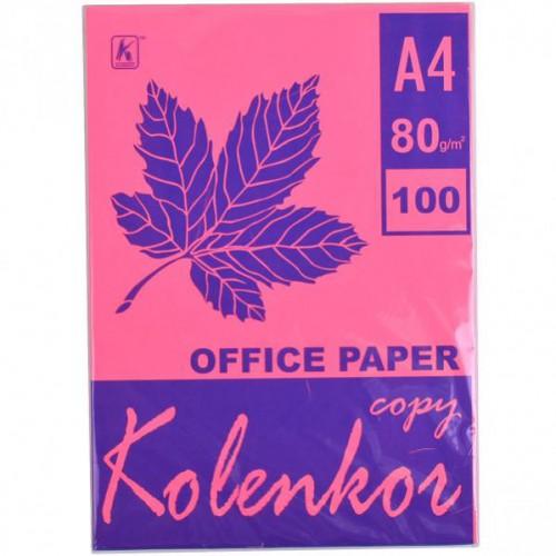 Бумага для ксерокса А4 100л, 80 г/м2 Неон розовая