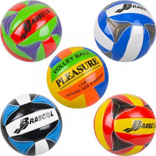 Мяч волейбольный-2, глянцевый Ø21см, кожзам