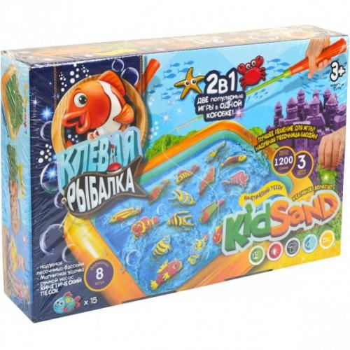 """Игра большая """"Клевая рыбалка+кинетический песок"""" 3+"""