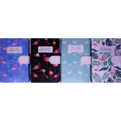 """Блокнот на магните """"Фламинго"""" (9,5*14,5см), 144л, к/з, цв.край, клетка"""
