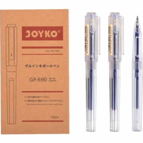 """Ручка гелевая 0.5мм, синяя """"Joyko"""""""
