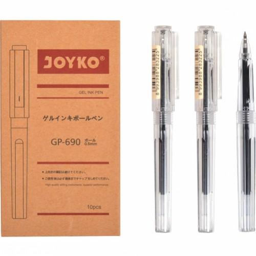 "Ручка гелевая 0.5мм, черная ""Joyko"""