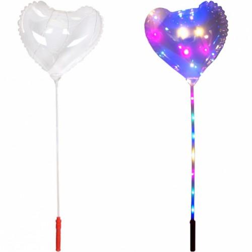 Сердце надувное светящиеся LED